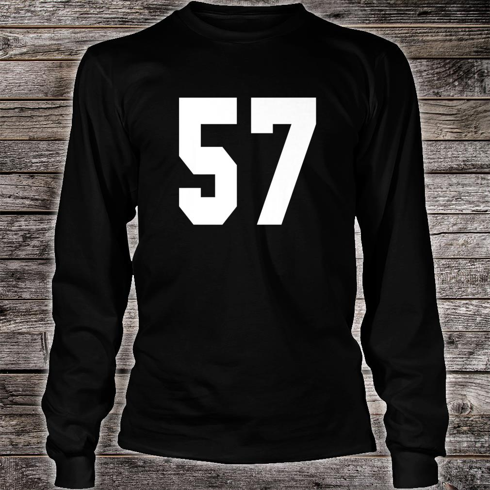 # 57 Team Sports Jersey Front & Back Number Player Fan Shirt long sleeved