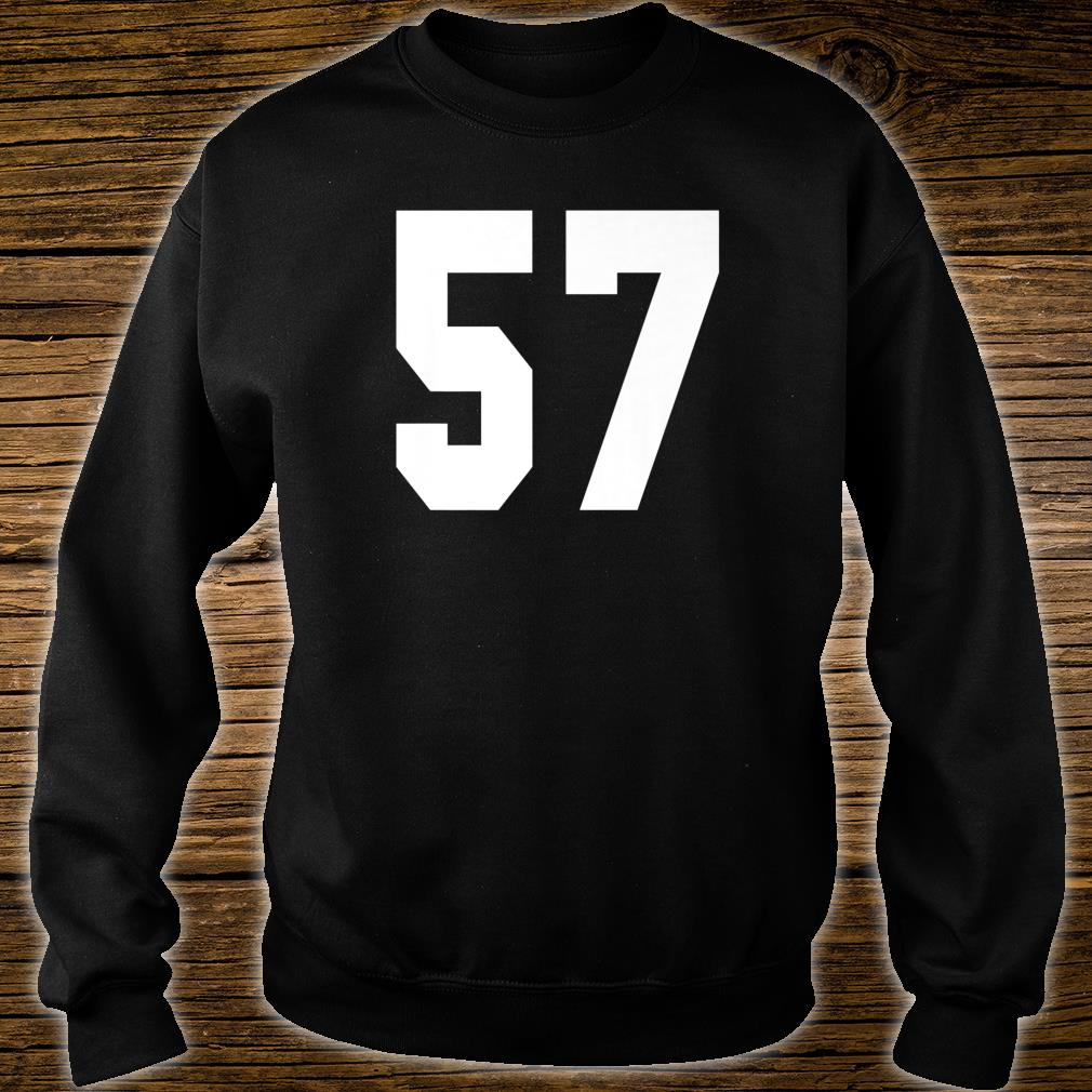 # 57 Team Sports Jersey Front & Back Number Player Fan Shirt sweater