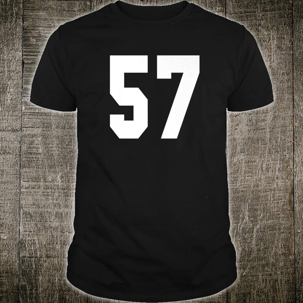 # 57 Team Sports Jersey Front & Back Number Player Fan Shirt