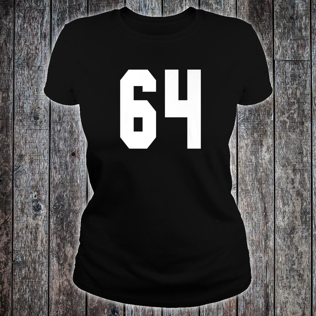 # 64 Team Sports Jersey Front & Back Number Player Fan Shirt ladies tee