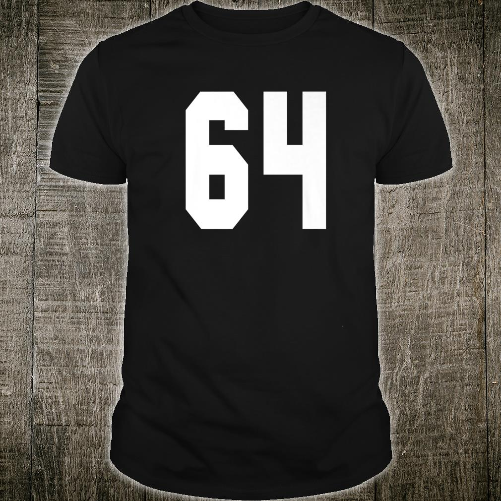 # 64 Team Sports Jersey Front & Back Number Player Fan Shirt