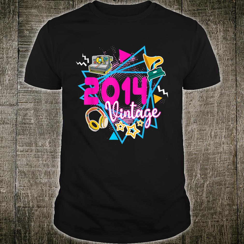 6th Birthday 6 Years Old Vintage 2014 Retro 80s 90s Style Shirt
