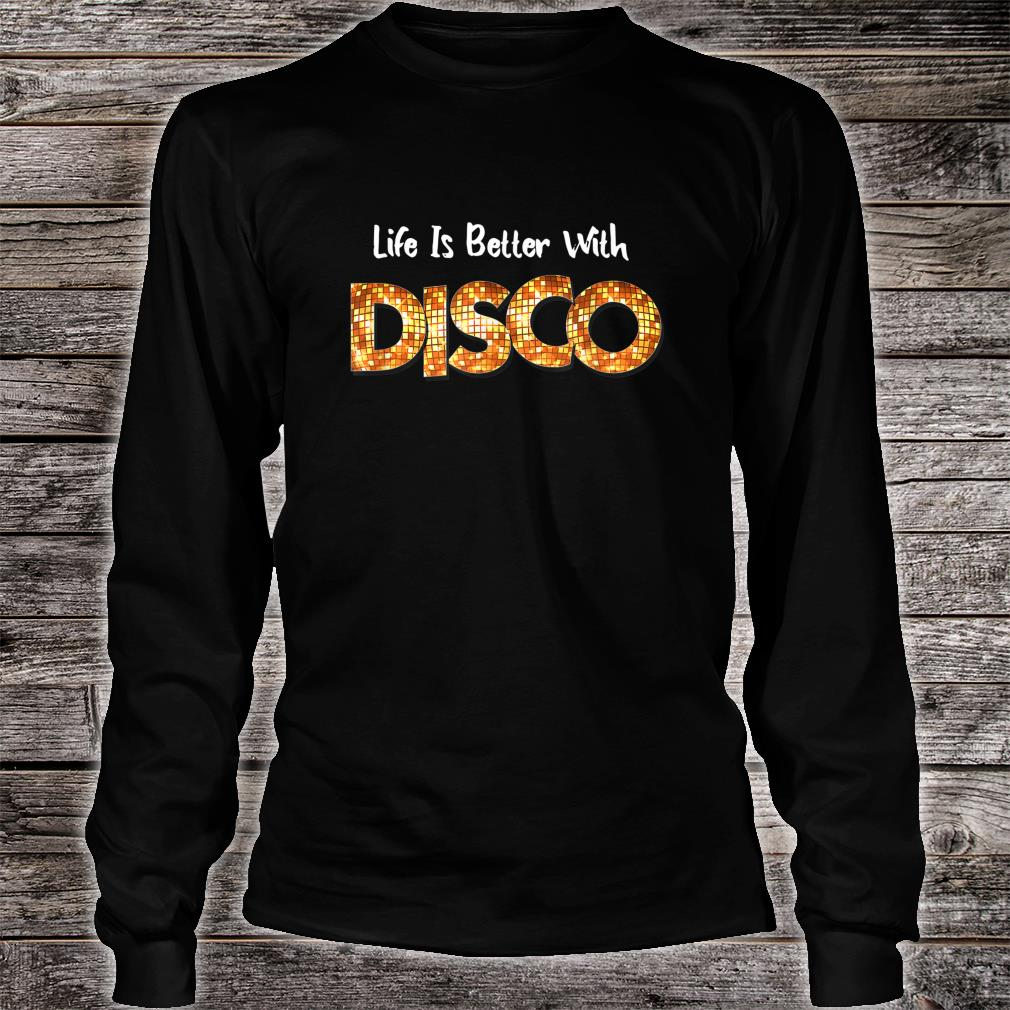 70's 80s Disco Dancing Party Vintage Retro Old School Outfit Shirt long sleeved