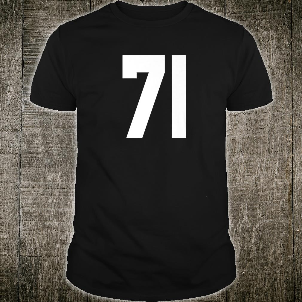 # 71 Team Sports Jersey Front & Back Number Player Fan Shirt