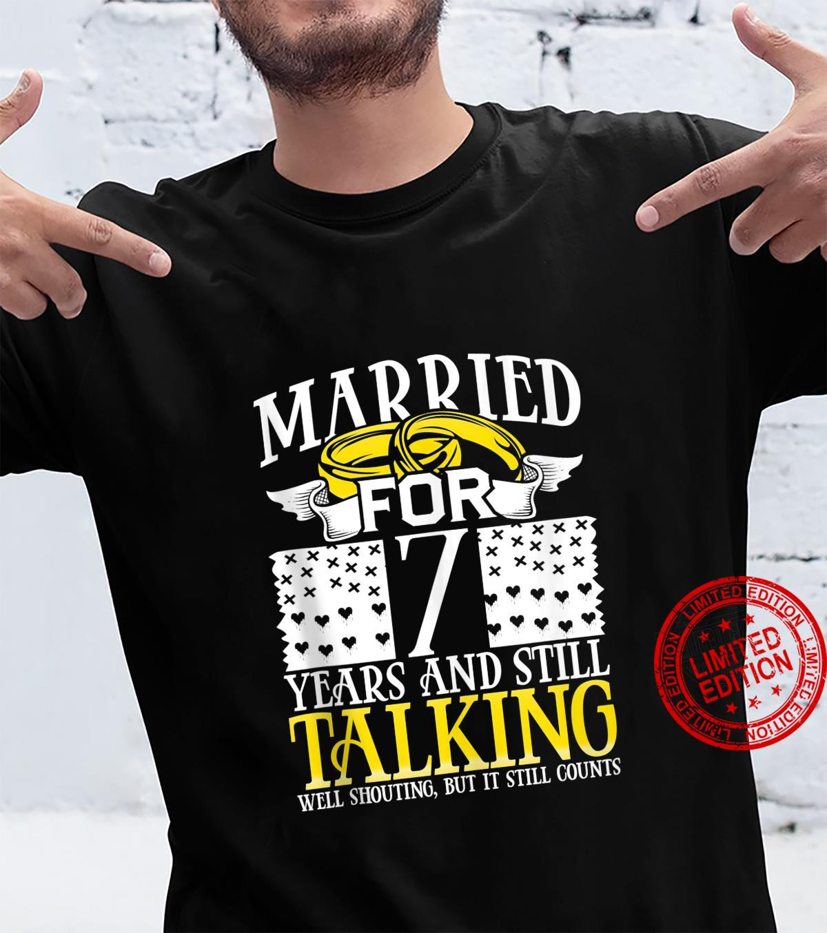 7th Wedding Anniversary for Wife Her 7th Marriage Shirt