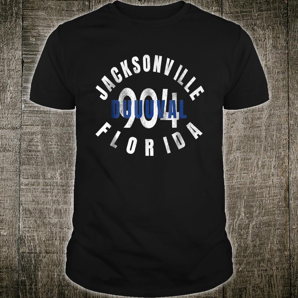 904 Jacksonville Duval Florida Pride Distressed Shirt