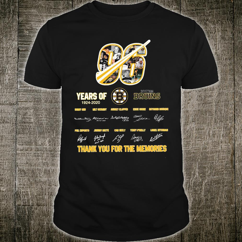 96 years of Bruins thank you for the memories shirt