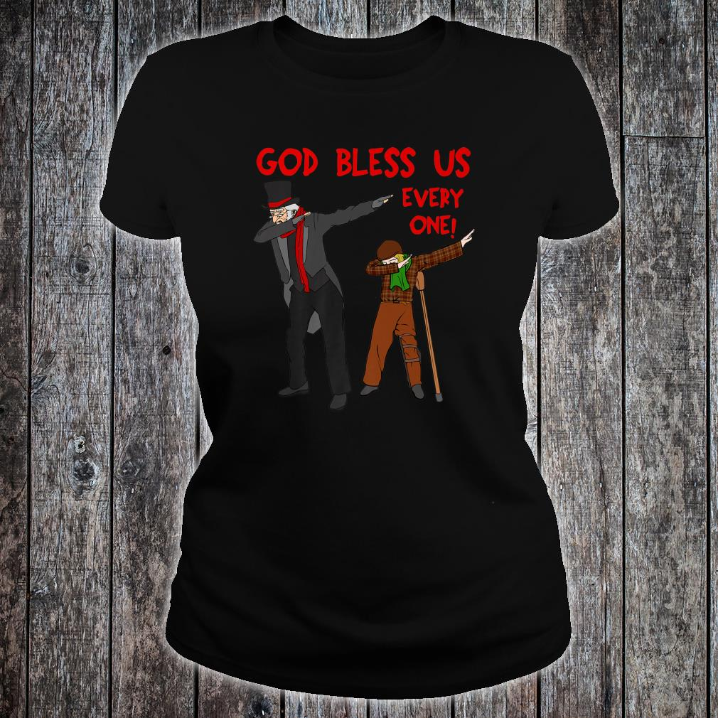 A Christmas Carol Uncle Scrooge & Tiny Tim Dabbing Christmas Shirt ladies tee