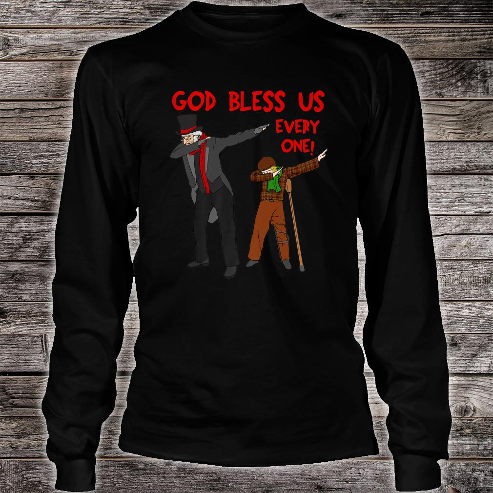 A Christmas Carol Uncle Scrooge & Tiny Tim Dabbing Christmas Shirt long sleeved