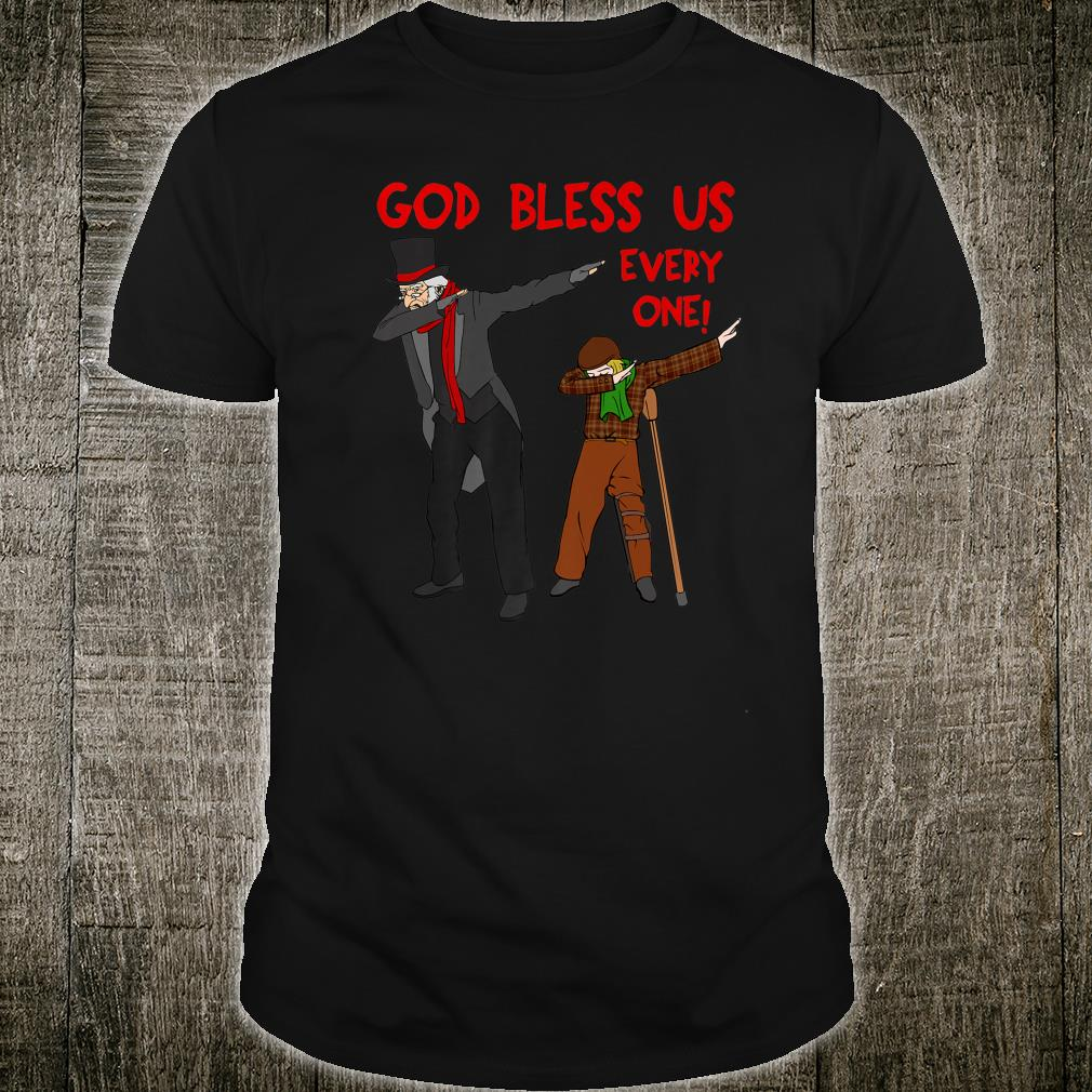 A Christmas Carol Uncle Scrooge & Tiny Tim Dabbing Christmas Shirt