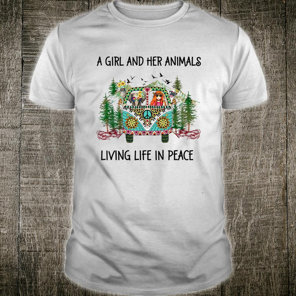 A Girl And Her Animals Living Life In Peace Hippie Costume Shirt