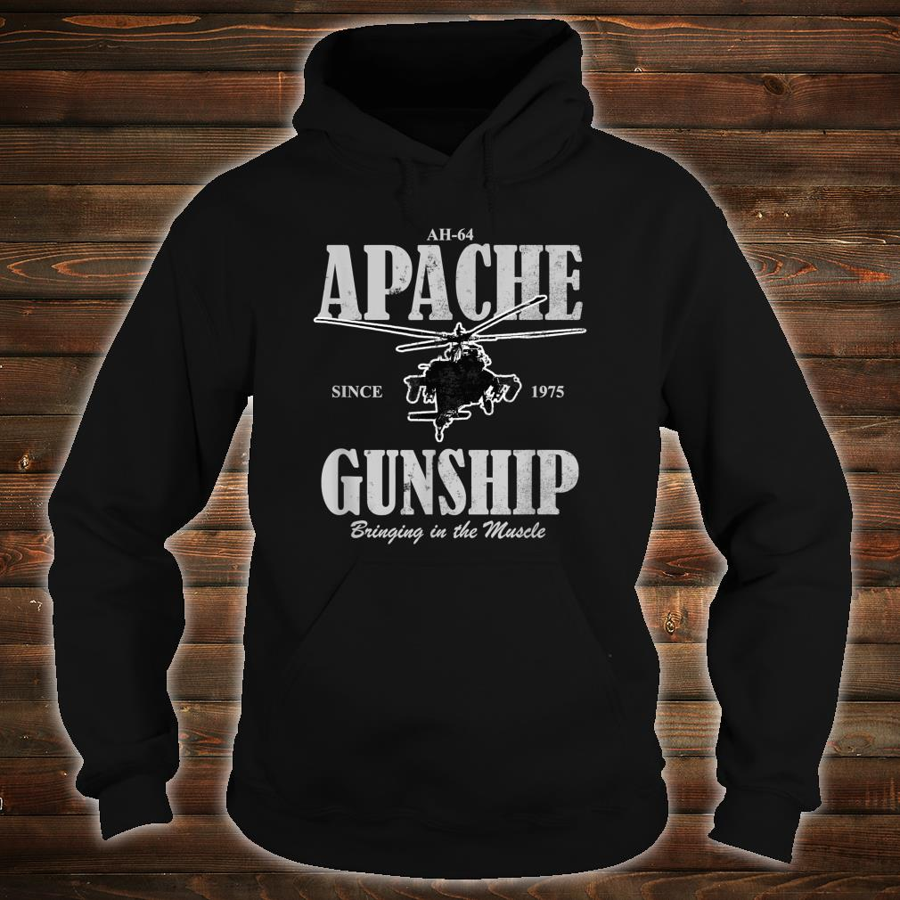 AH64 Apache Gunship distressed Shirt hoodie