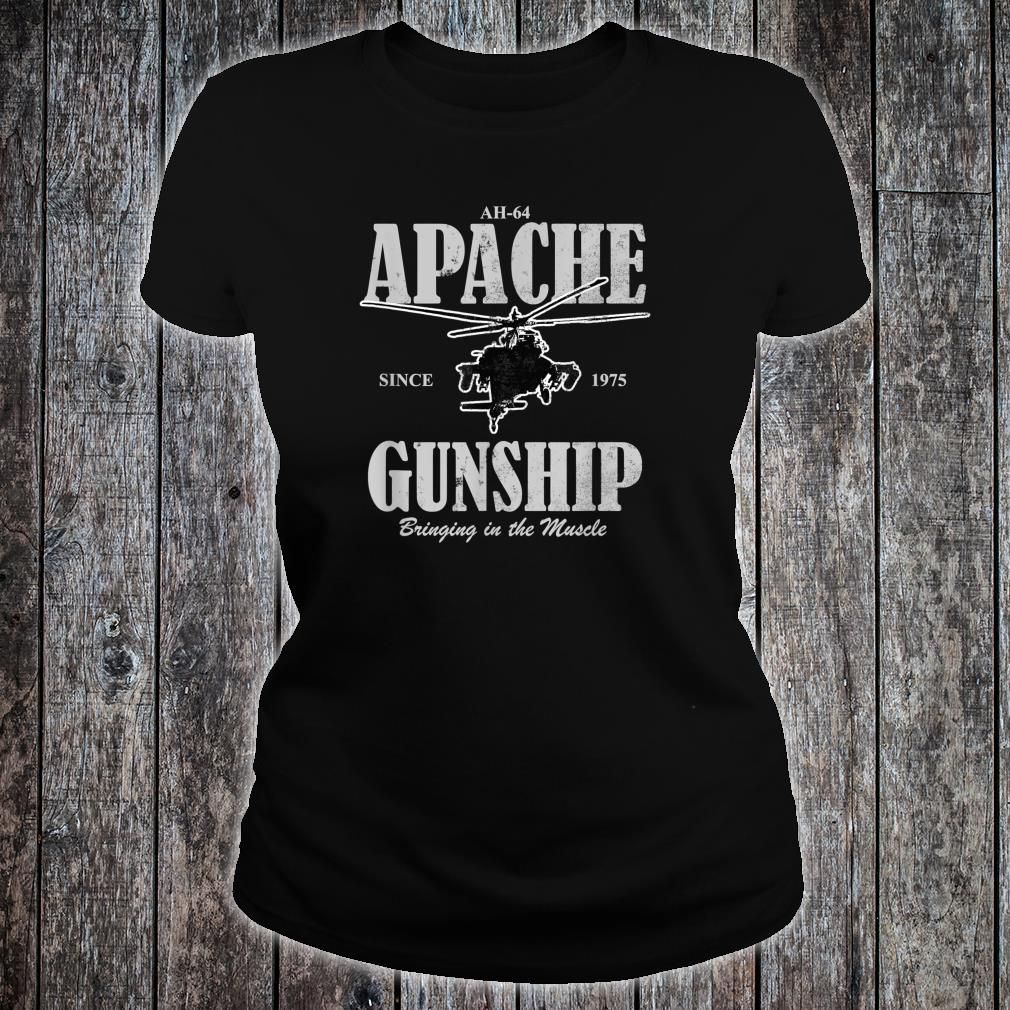AH64 Apache Gunship distressed Shirt ladies tee