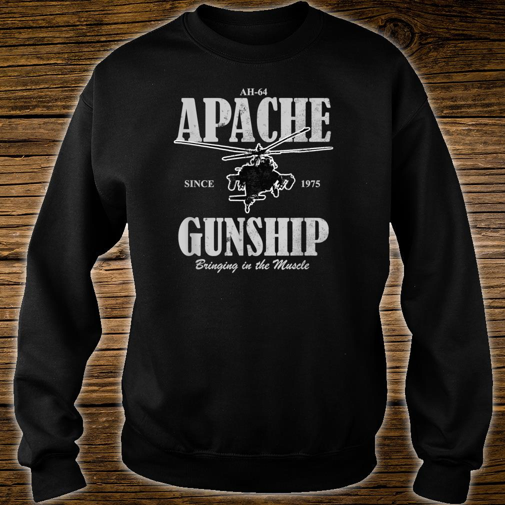 AH64 Apache Gunship distressed Shirt sweater