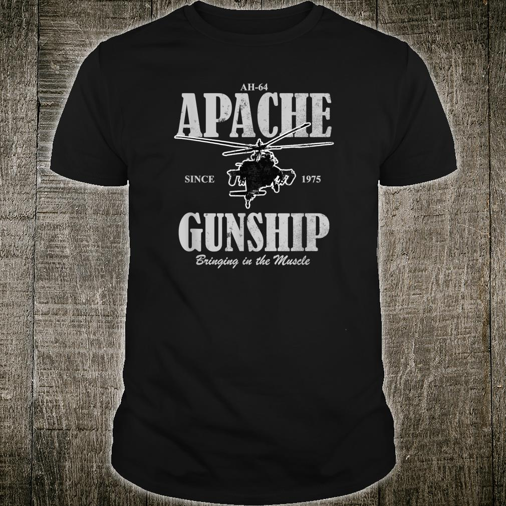 AH64 Apache Gunship distressed Shirt