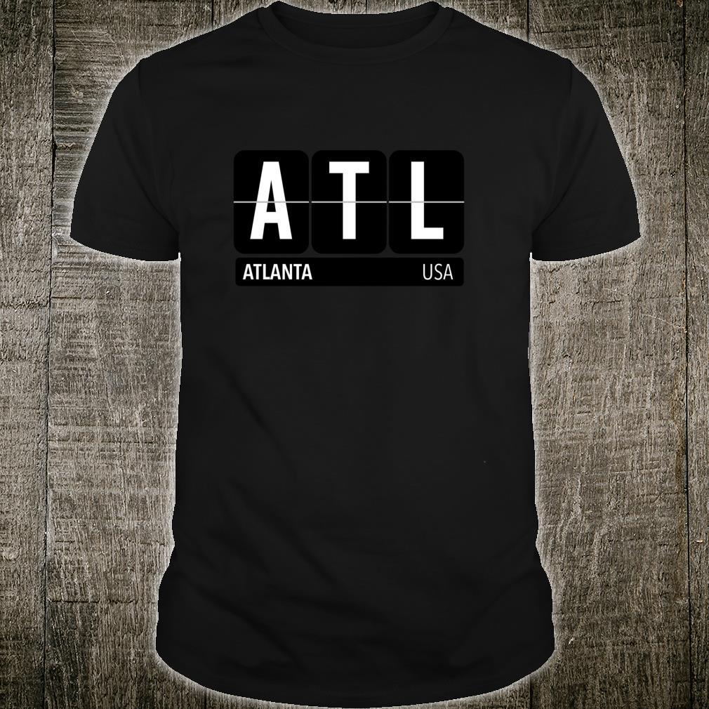 ATL Atlanta Georgia USA Travel Souvenir White Text Shirt