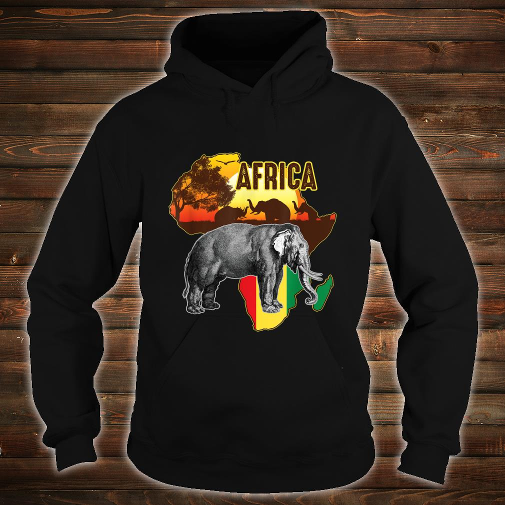 African Flag Africa Roots Black History Shirt hoodie