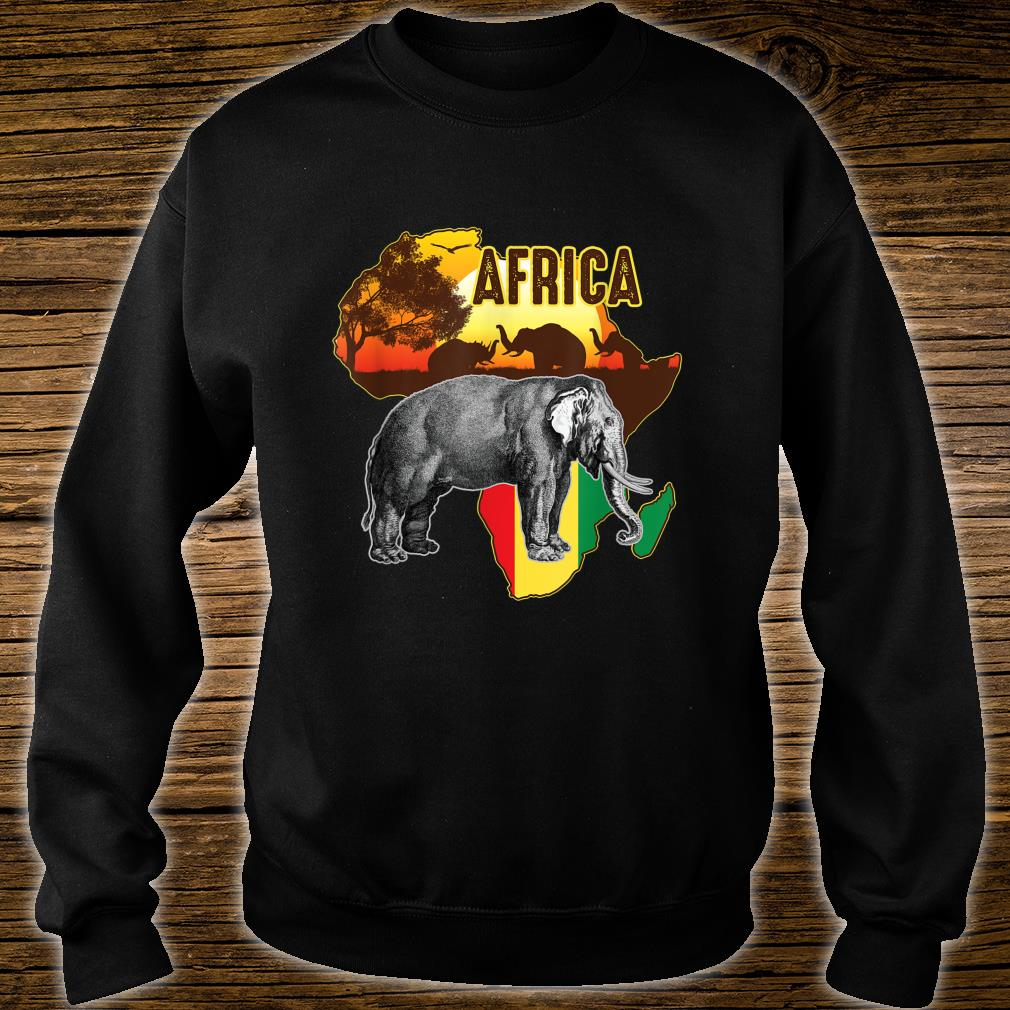 African Flag Africa Roots Black History Shirt sweater