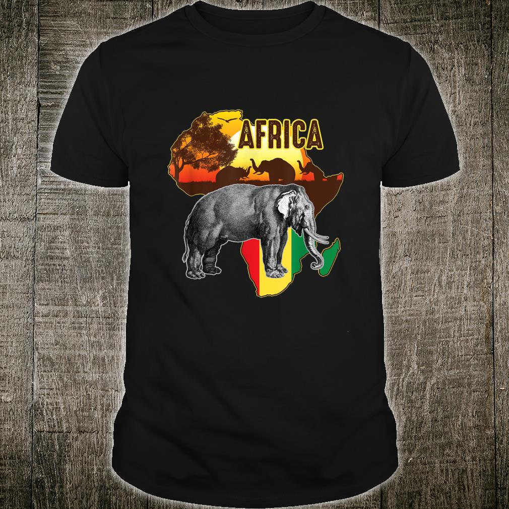 African Flag Africa Roots Black History Shirt