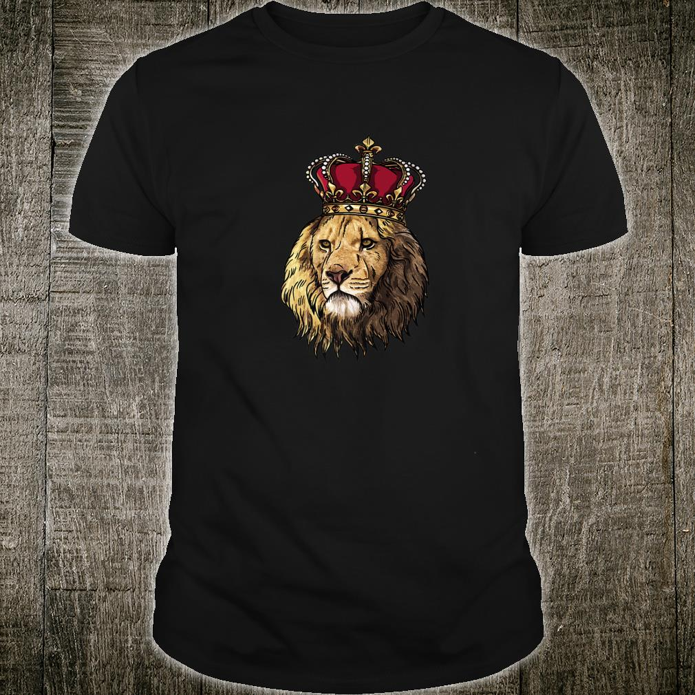 African Lion HeadFace With Crown Big Cat Shirt