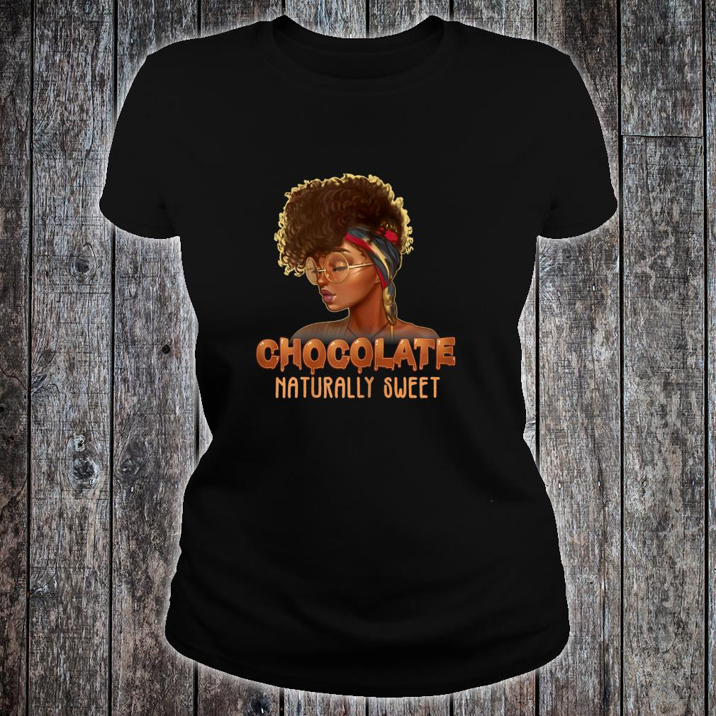 Afro Black Girl With Natural Hair Pride Shirt ladies tee