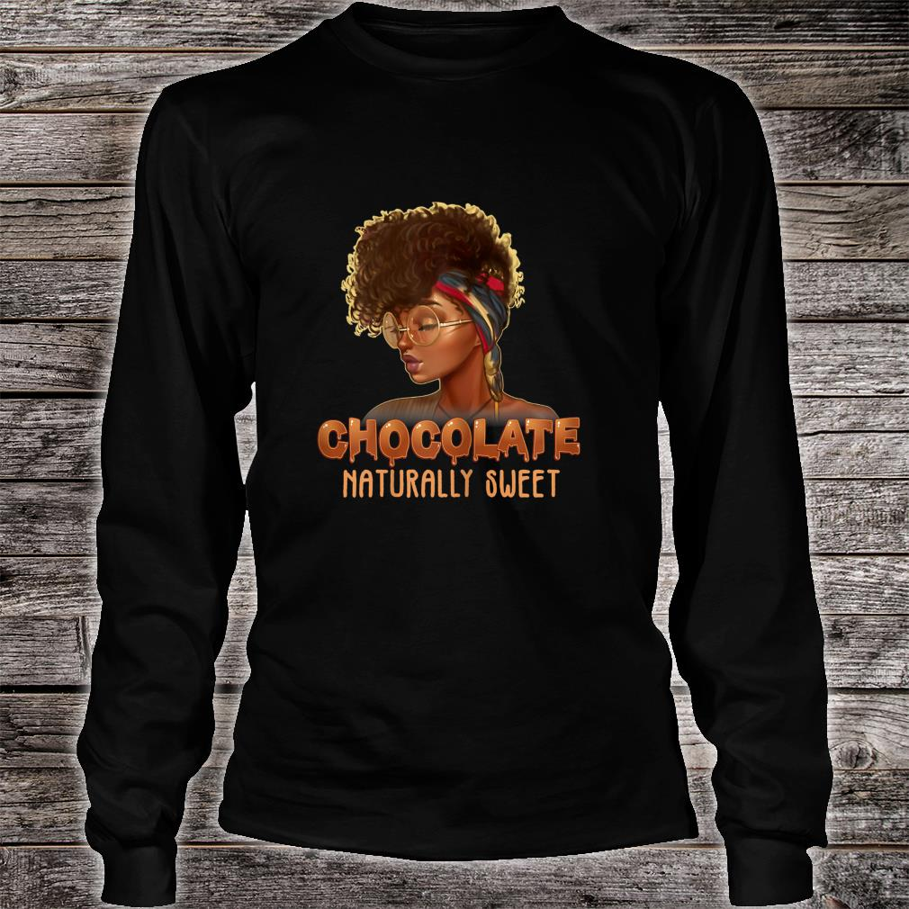 Afro Black Girl With Natural Hair Pride Shirt long sleeved