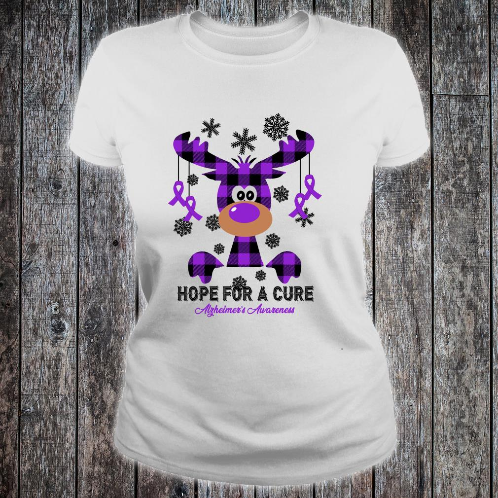 Alzheimer's Awareness Hope For A Cure Shirt ladies tee