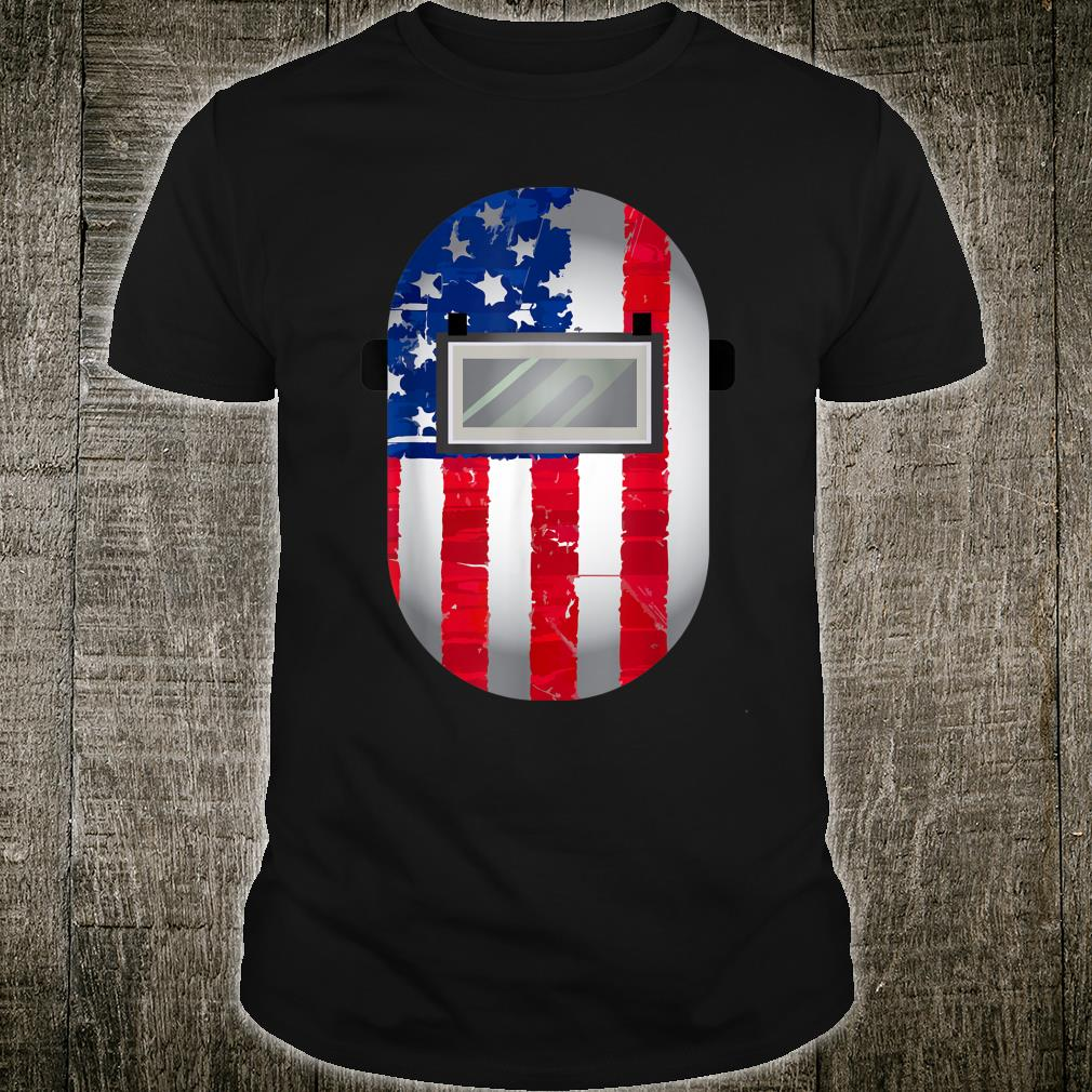 American Welder US Flag Welding Hood Shirt