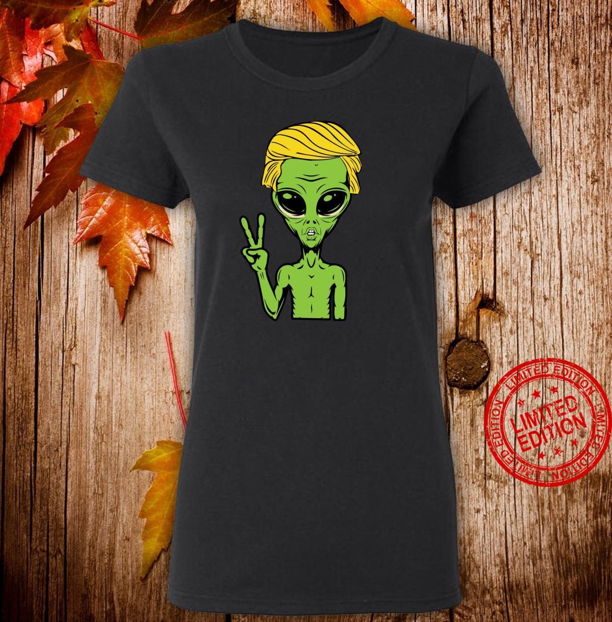 Anti Trump Alien Peace Impeach 8645 Democrat Shirt ladies tee