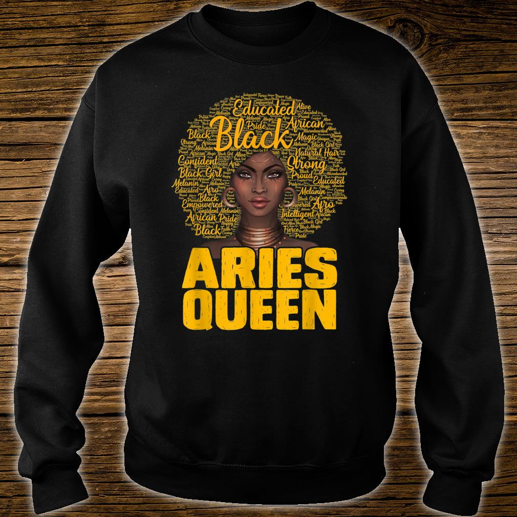 Aries Queen Black Afro Natural Hair African American Shirt sweater