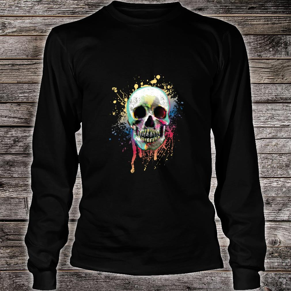 Artistic Skull Shirt long sleeved