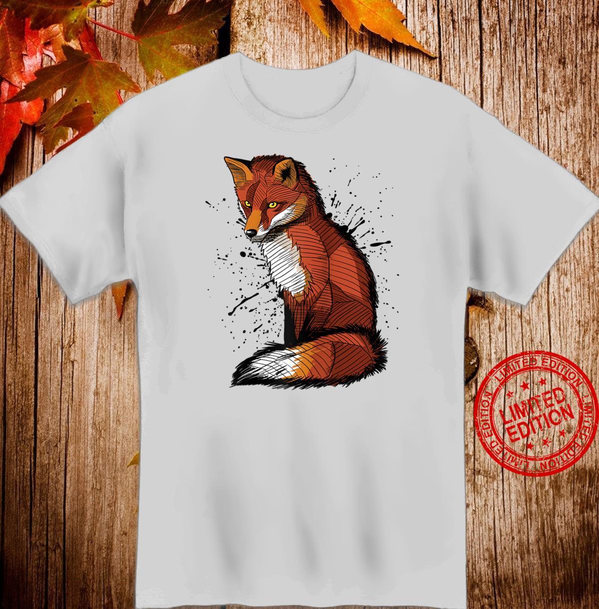 Artistic sketch of a Fox, ink splatter Shirt