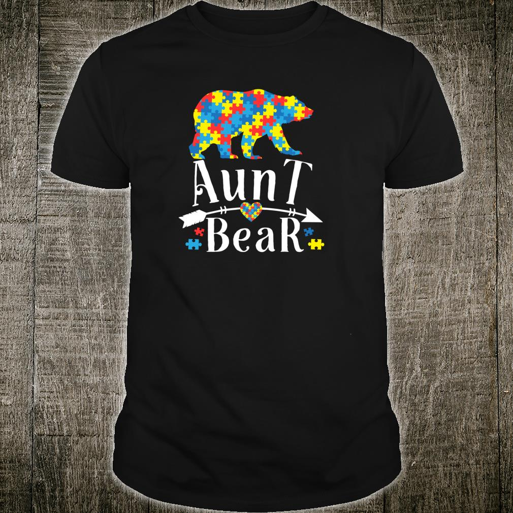 Aunt Bear Autism Awareness Shirt Autism Aunt Shirt