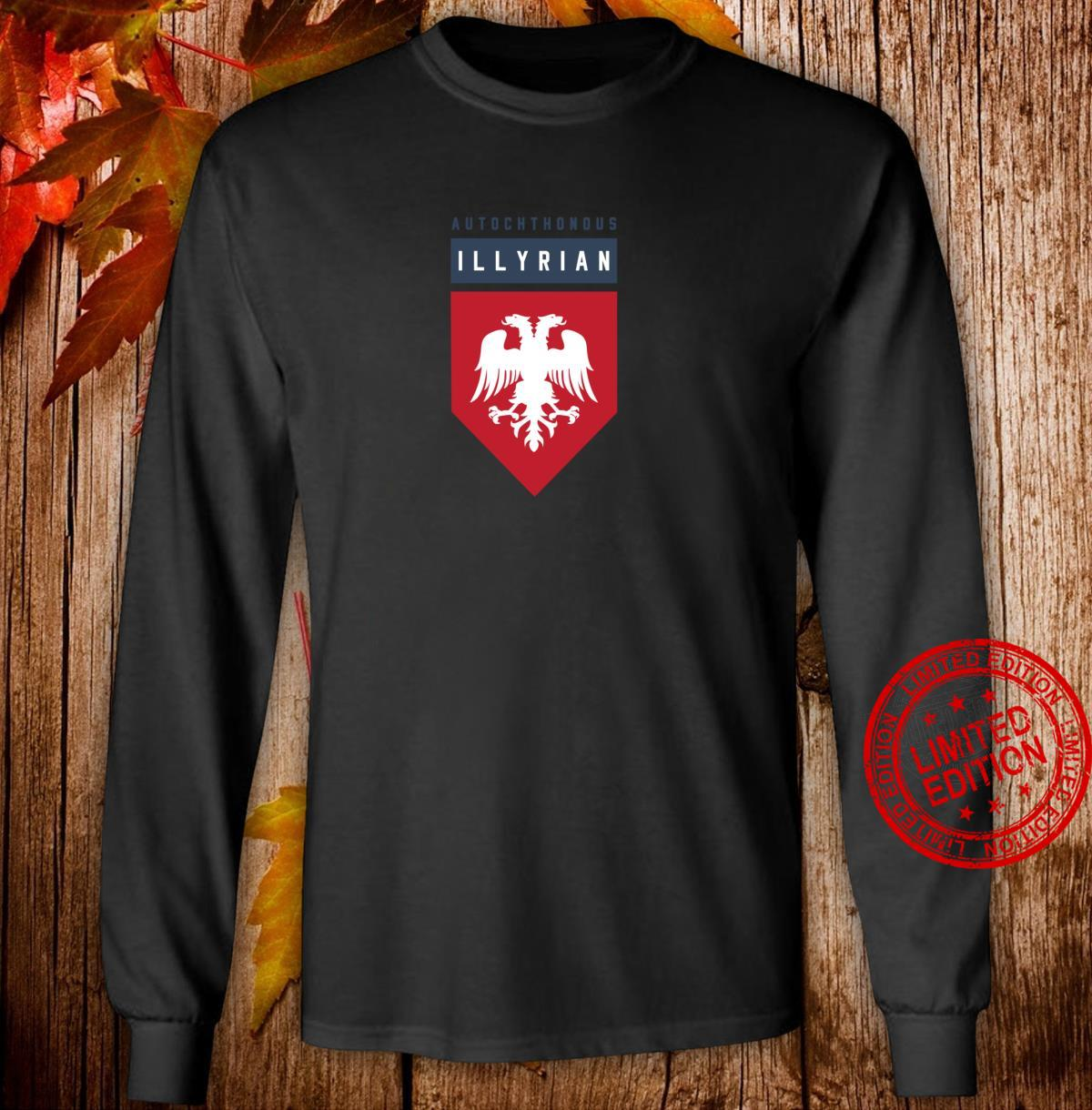 Autochthonous Illyrian Albanian Shirt long sleeved