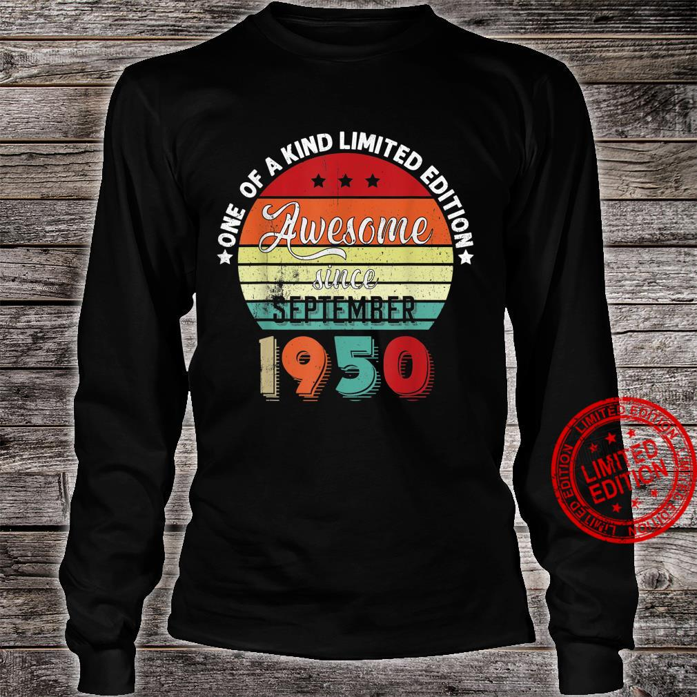 Awesome Since September 1950 Vintage Retro Bday Shirt long sleeved