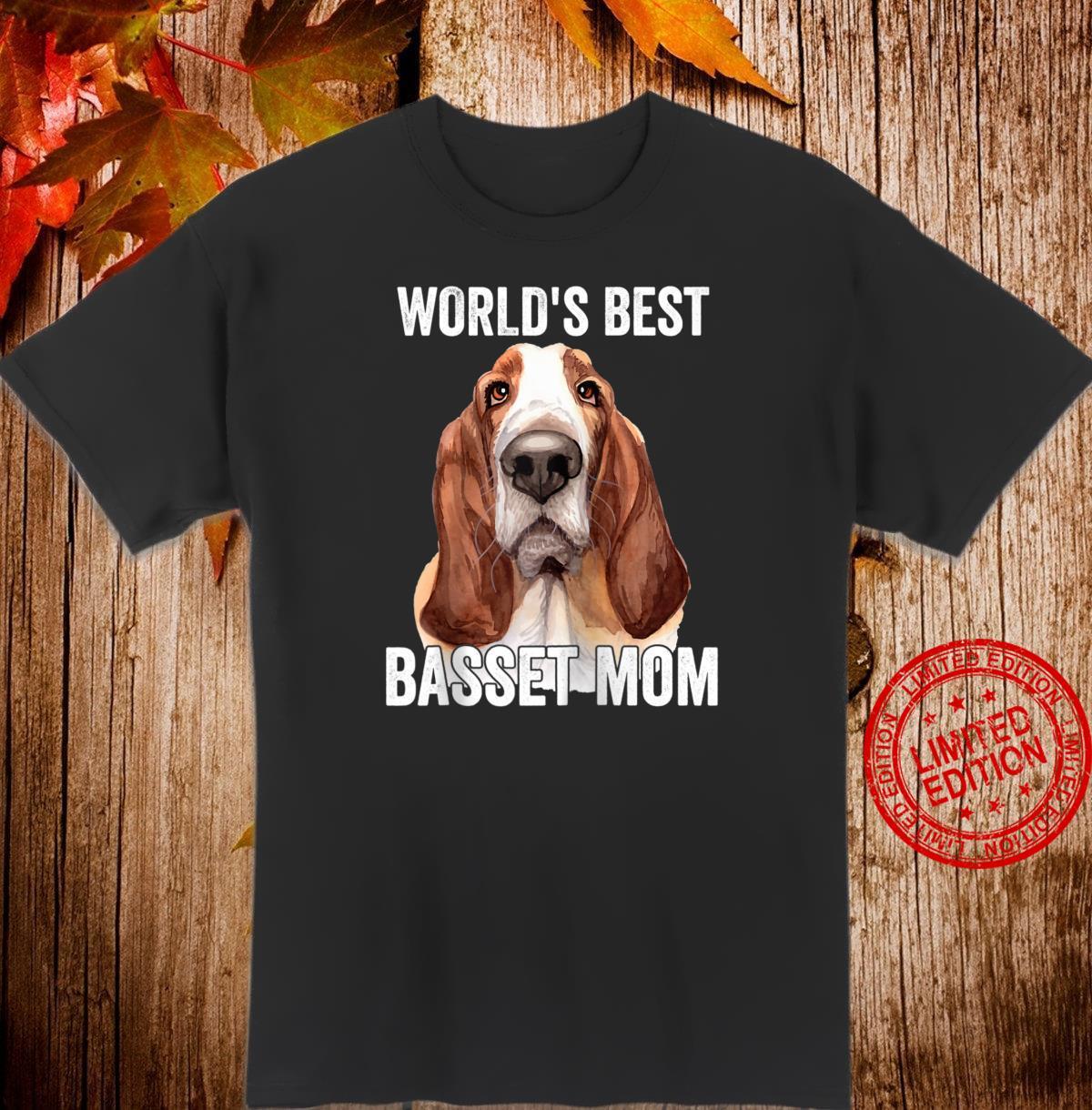 Basset Hound Mom Cute Dog Shirt