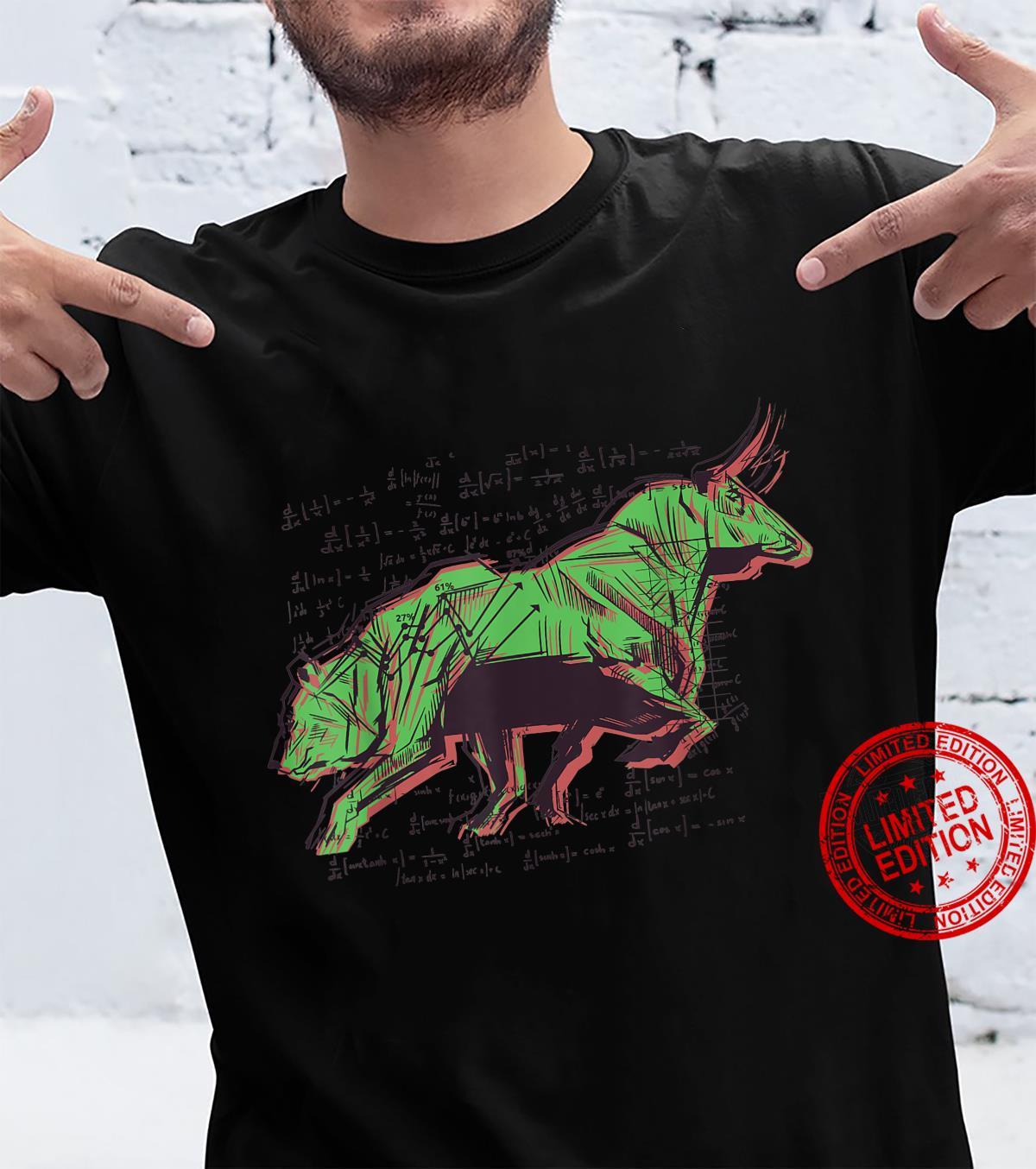 Bear vs Bull Sketch Investor Stock Forex Market Trader Shirt