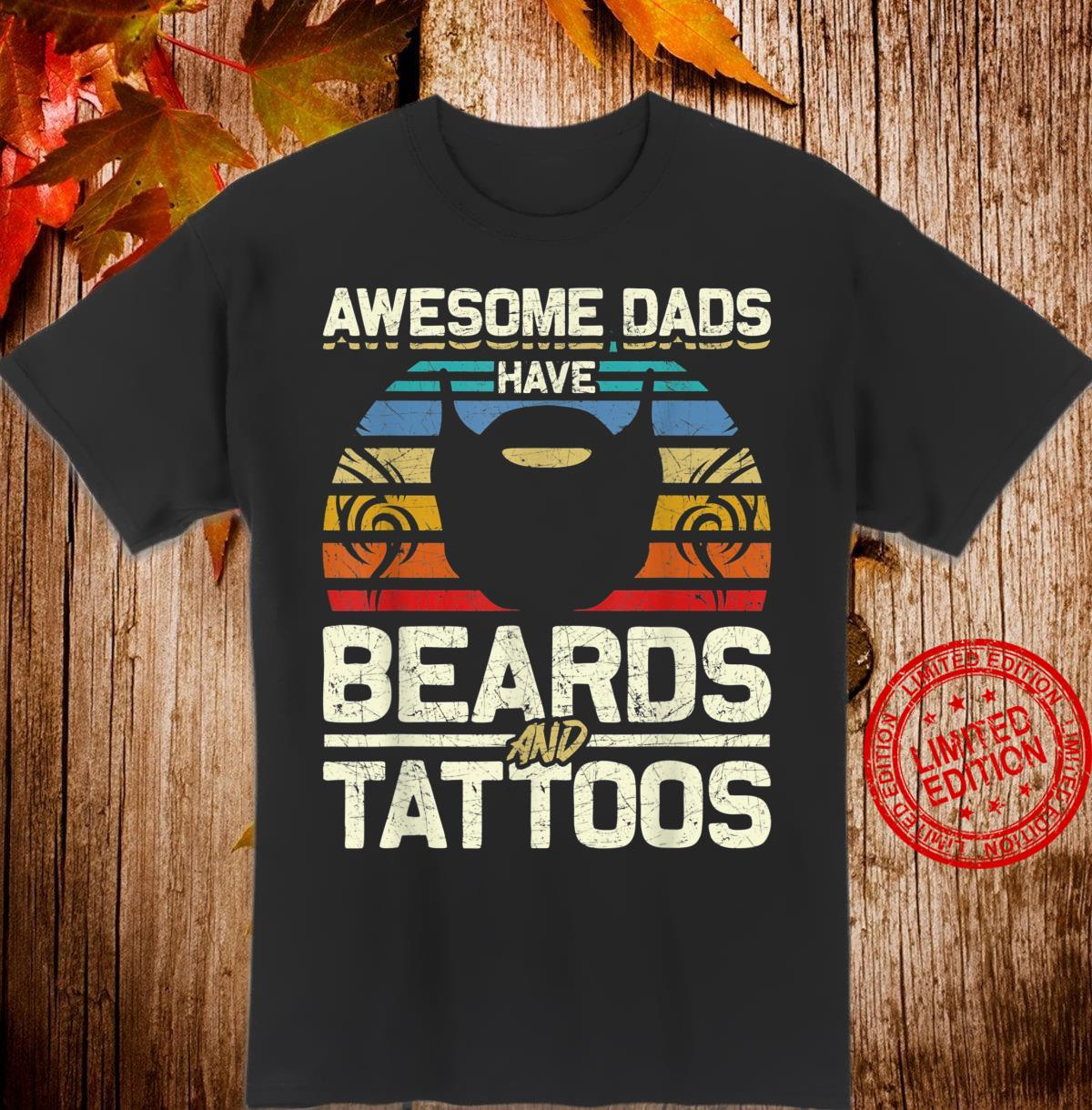 Bearded Dad Fathers Day Tattoo Shirt