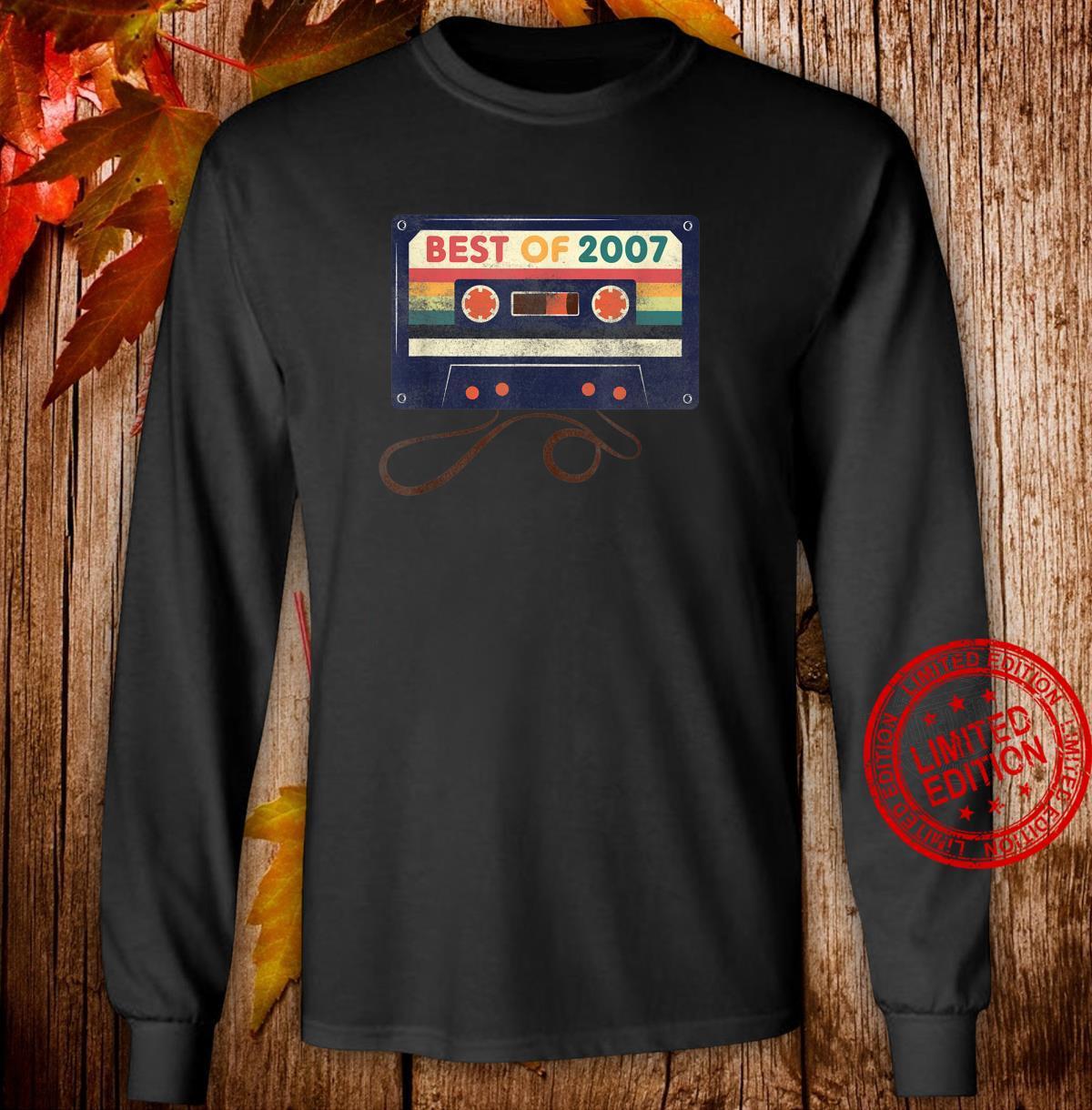 Best Of 2007 Shirt Vintage 14th Birthday Cassette Tape Shirt long sleeved