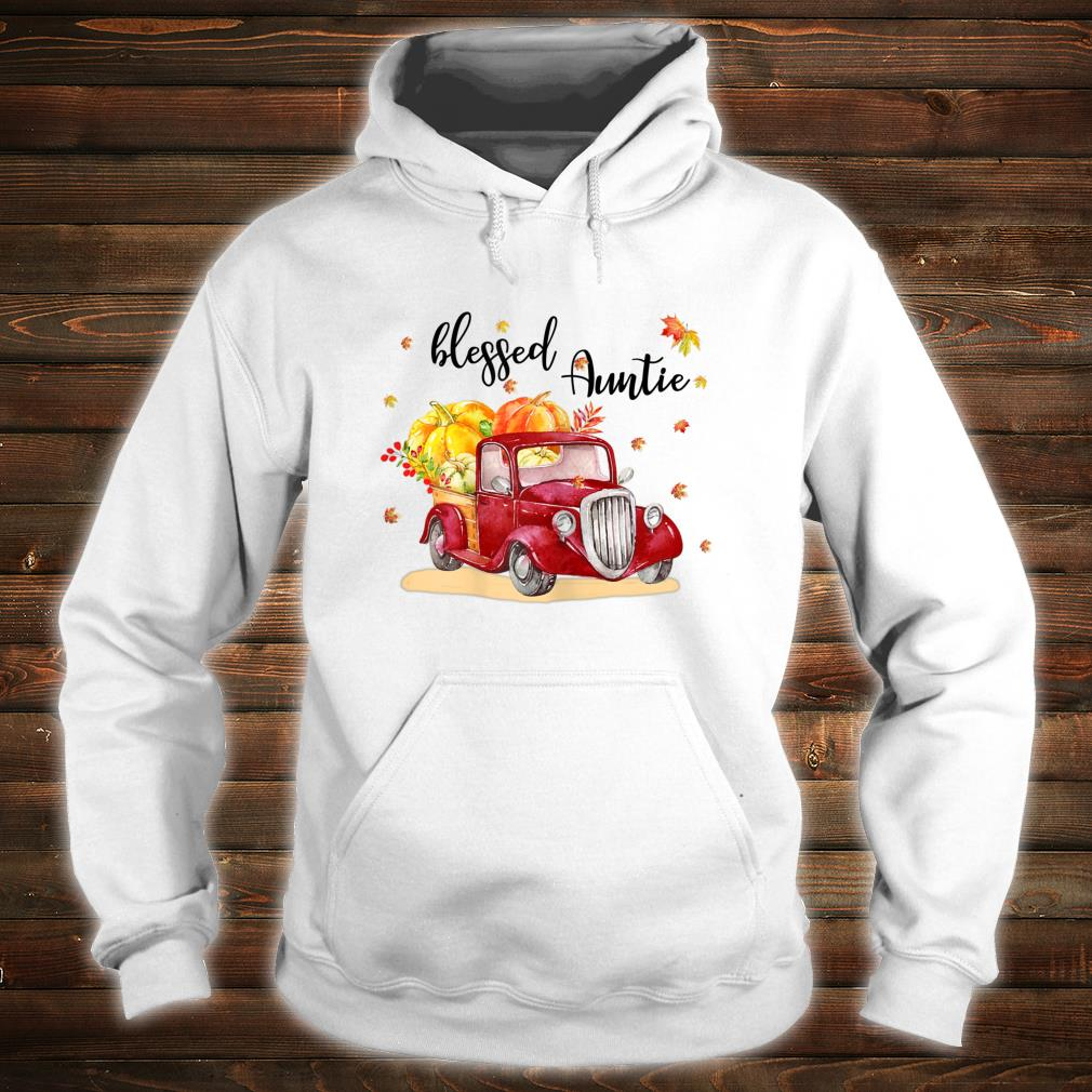 Blessed Auntie Red Truck Holding Pumpkin Fall Autumn Shirt hoodie