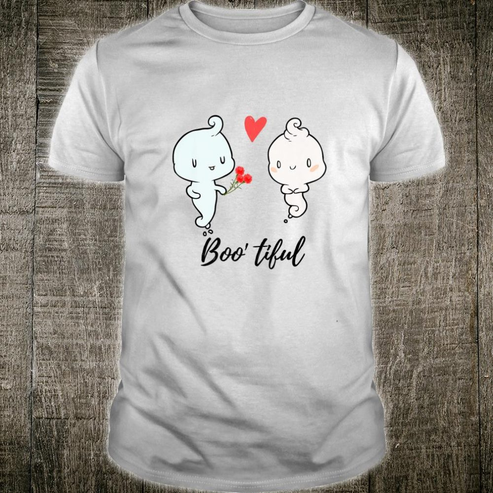 Bootiful Cute Cartoon Ghost Love Halloween Shirt