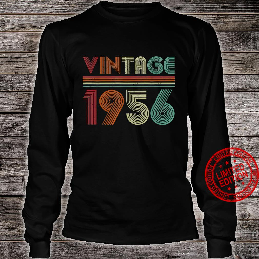 Born In 1956 Retro Vintage 65th Birthday 65 Years Old Shirt long sleeved