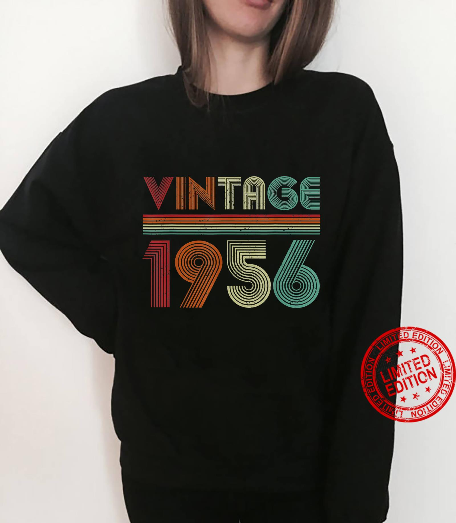 Born In 1956 Retro Vintage 65th Birthday 65 Years Old Shirt sweater