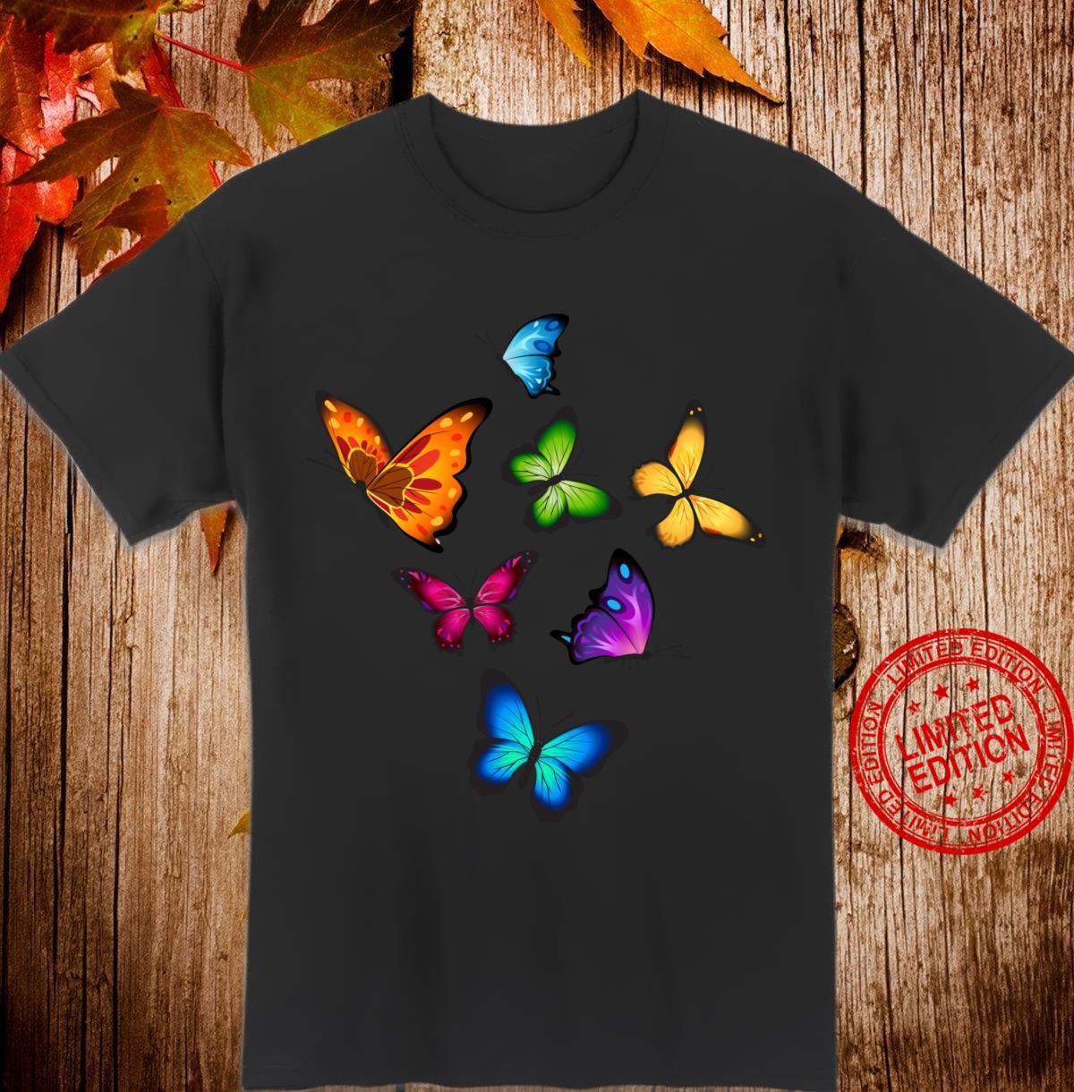 Butterflies Wings Design For Girls Shirt