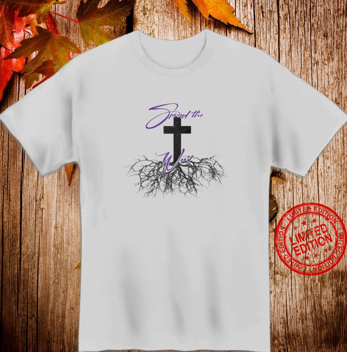 Christian Themed SPREAD THE WORD The Cross Jesus Shirt