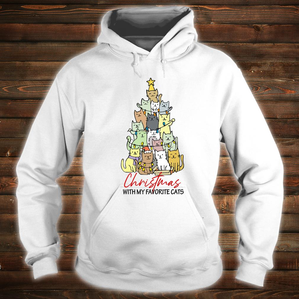 Christmas With My Favorite Cats Cats Xmas Shirt hoodie