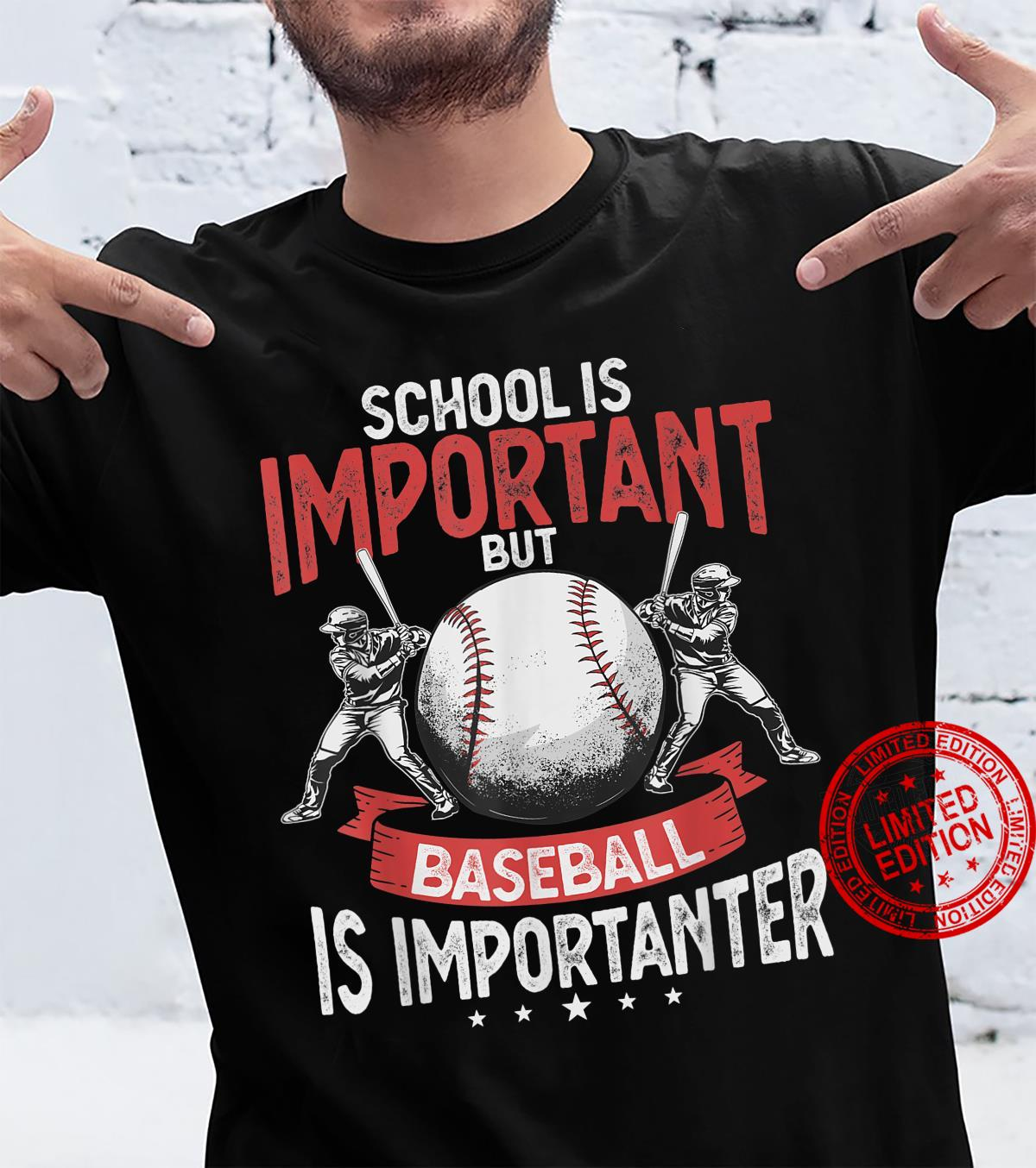 Cool School Is Important But Baseball Is Importanter Shirt