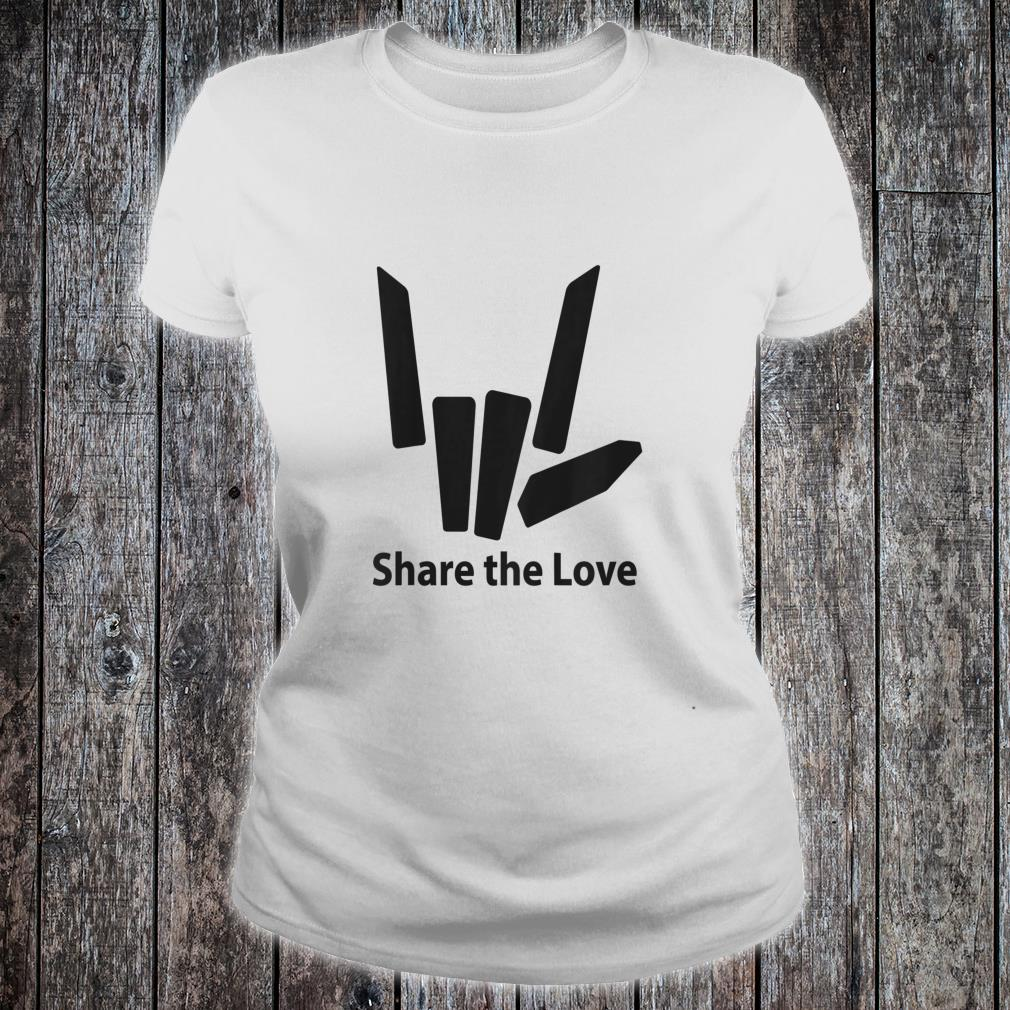 Cute Fingers share the love for Kids shirt ladies tee