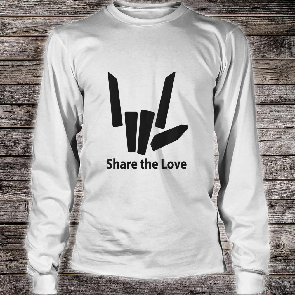 Cute Fingers share the love for Kids shirt long sleeved