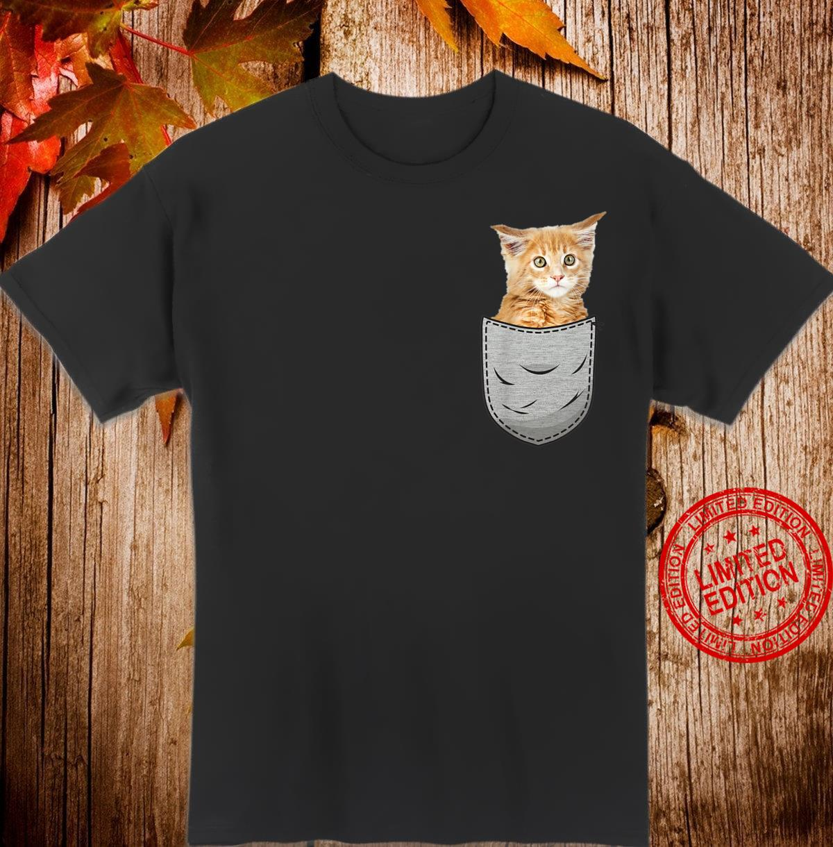 Cute Maine Coon for cats Breast Pocket Shirt